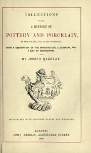 Cover of: Collections towards a history of pottery and porcelain | Marryat, Joseph.