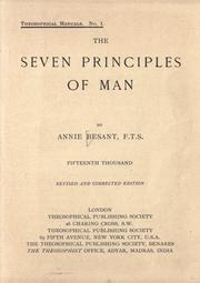 The seven principles of man by Annie Wood Besant