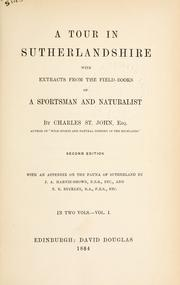 A tour in Sutherlandshire by St. John, Charles
