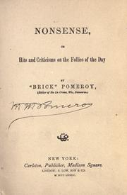 Cover of: Nonsense