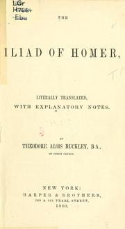 The Iliad.