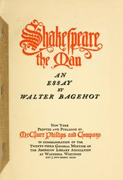Cover of: Shakespeare the man: an essay