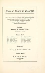 Cover of: Men of mark in Georgia by edited by William J. Northen.