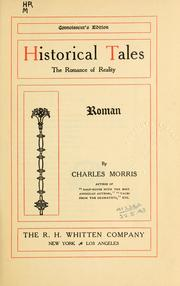 Cover of: Historical tales, the romance of reality: Roman