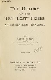 "Cover of: The history of the ten ""lost"" tribes: Anglo-Israelism Examined"