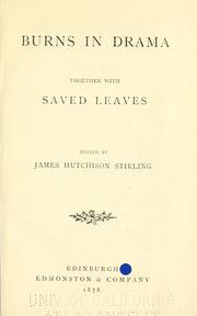 Cover of: Burns in drama
