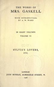 Cover of: Sylvia's lovers, etc.