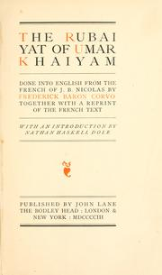 Cover of: The Rubaiyat of Umar Khaiyam