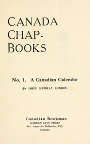 Cover of: A Canadian calendar