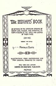 Cover of: The Indians' book by Natalie Curtis Burlin