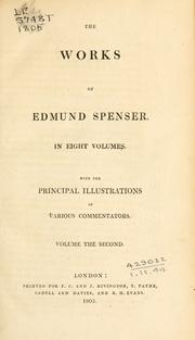 Cover of: Works | Edmund Spenser
