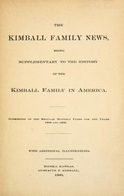 Cover of: The Kimball family news. |