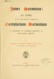 Cartularium Saxonicum by Birch, Walter de Gray