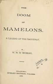 Cover of: The doom of Mamelons