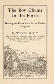 Cover of: The boy chums in the forest, or Hunting for plume birds in the Florida Everglades