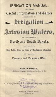 Cover of: Irrigation manual
