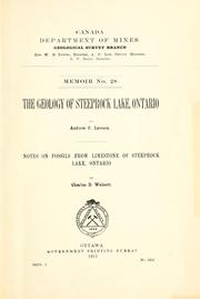 Cover of: The geology of Steeprock Lake, Ontario