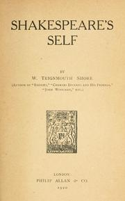 Cover of: Shakespeare's self