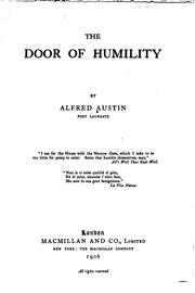 Cover of: Door of humility