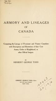 Cover of: Armory and lineages of Canada