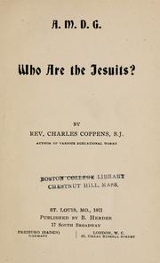 Cover of: Who are the Jesuits? by Charles Coppens