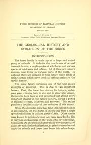 The geological history and evolution of the horse