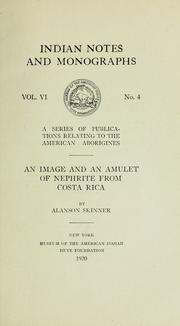 Cover of: An image and an amulet of nephrite from Costa Rica