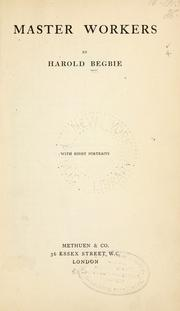Cover of: Master workers