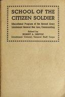 Cover of: School of the citizen soldier | Robert Allen Griffin