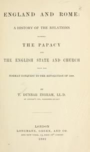 Cover of: England and Rome