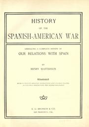 History of the Spanish-American war by Watterson, Henry