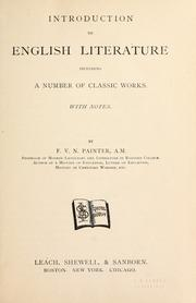 Cover of: Introduction to English literature, including a number of classic works. With notes
