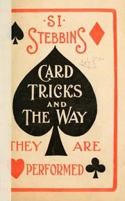 Cover of: Si Stedbbins card tricks and the way they are performed