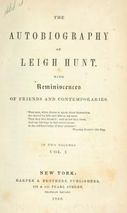 Cover of: The autobiography of Leigh Hunt