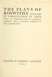 Cover of: The plays of Roswitha | Hrotsvitha