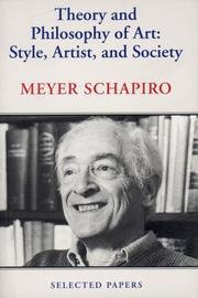 Cover of: Theory and Philosophy of Art | Schapiro, Meyer