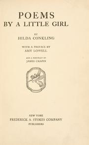 cover of poems by a little girl hilda conkling