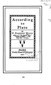 Cover of: According to Plato
