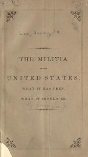 Cover of: The Militia of the United States