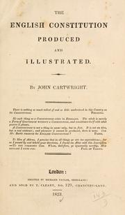 Cover of: The English constitution produced and illustrated