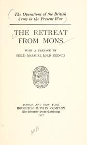 Cover of: The retreat from Mons