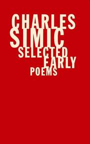Cover of: Selected early poems