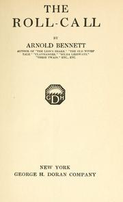 The roll-call by Arnold Bennett