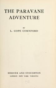 Cover of: The paravane adventure