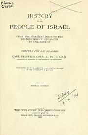 Cover of: History of the people of Israel