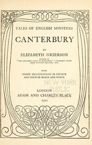 Cover of: Canterbury by Elizabeth Wilson Grierson