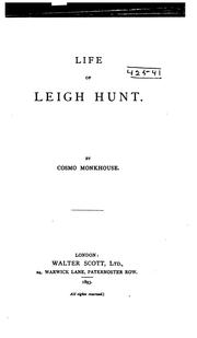 Cover of: Life of Leigh Hunt