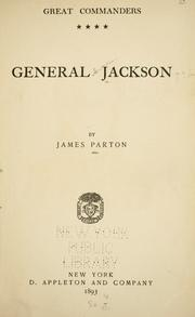 Cover of: General Jackson