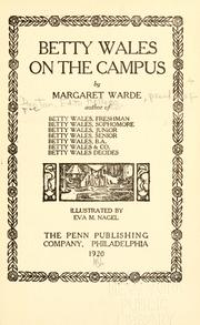 Cover of: Betty Wales on the campus