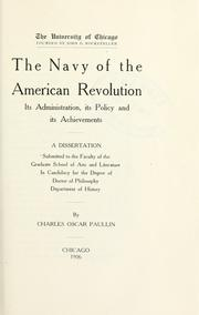 Cover of: The Navy of the American Revolution
